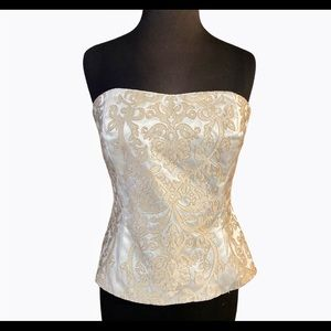 WHBM Embroidered Corset Top